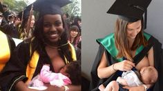 """Two photos, two very different reactions: When two photos were stacked side by side, only one of the women was able transcend the sexualisation of the act of breastfeeding. Only one woman was called """"adorable"""" by the media and portrayed with girlish innocence, and it wasn't the black one. It never is."""