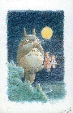 Totoro (My Neighbor) Masterdruck, 28x44: Amazon.de: Küche & Haushalt