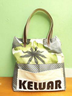 Canvas bag with handel weebing n imitation leather. Gym Bag, Burlap, Reusable Tote Bags, Canvas, Leather, Fashion, Tela, Moda, Hessian Fabric