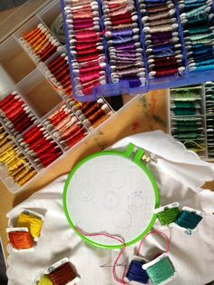 Beginners Embroidery Supplies-  http://wrenbirdarts.wordpress.com/2013/06/20/june-20-2013/