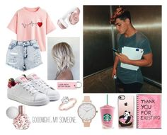 """Grayson Dolan"" by sorrynoturbabe ❤ liked on Polyvore featuring WithChic, Casetify, Boohoo, adidas Originals, Beats by Dr. Dre, Various Projects and Olivia Burton"