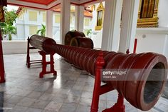 Drum at Wat Benchamabophit is the newest of the major Buddhist temples of Bangkok.