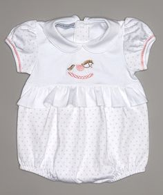 Another great find on #zulily! White Horsie Pima Bubble Bodysuit - Infant by Hug Me First #zulilyfinds