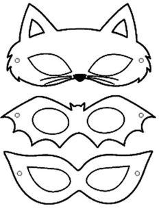 carnival mask molds - Eye Makeup tips Printable Halloween Masks, Printable Masks, Halloween Crafts, Printables, Halloween Kids, Diy For Kids, Crafts For Kids, Maske Halloween, Mascaras Halloween