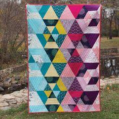 Prismatic Organic Quilt Kit - Sarah Watson -Cloud 9