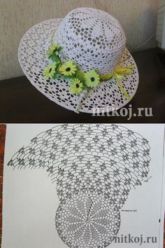 Летняя шляпа крючком » Ниткой - вязаные вещи для вашего дома, вязание крючком, вязание спицами, схемы вязания