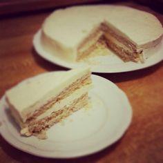 My slice of vanilla & coconut sponge cake. #vegan #gluten free #dairy free #yummy.:)