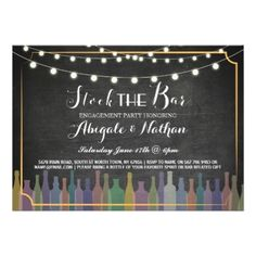 #party - #Stock The Bar Chalk Couple's Shower Invitation