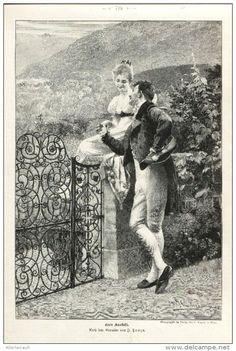 """Gute Aussicht (Johann Hamza)   -  Druck , entnommen aus """"Die Gartenlaube """", 1898"""