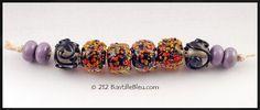 $38 Nocturnal Autumn set - Handmade lampwork art beads, jewelry & supplies by Bastille Bleu Lampwork. $38.00, via Etsy.
