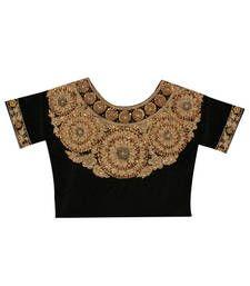 Buy Black Velvet blouse-fabric blouse-fabric online