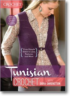 Create a unique sweater with Tunisian crochet, which combines elements of crochet and knitting together for one stunning look
