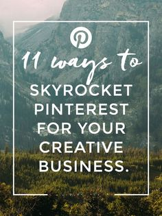 11 Ways to Skyrocket Pinterest for your Creative Business. After attending a talk with Pinterest UK, I've written up the most valuable pieces of information about using Pinterest in a strategic way to increase traffic for your creative business or blog.