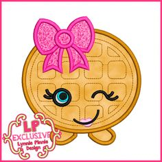 See It All - Cutie Kawaii Waffle Applique 4x4 5x7 6x10 7x11 SVG - Welcome to Lynnie Pinnie.com! Instant download and free applique machine embroidery designs in PES, HUS, JEF, DST, EXP, VIP, XXX AND ART formats.