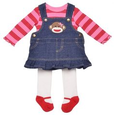 Cute Sock Monkey Outfit for Baby.