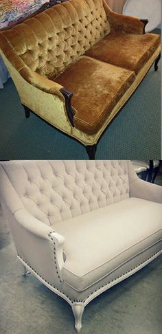 reupholster french provincial sofa - Google Search