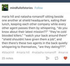 Maria Hill; Natasha Romanoff; Marvel; Black Widow