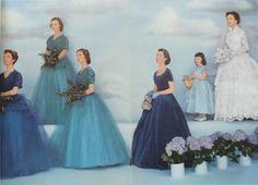 Fashion spread from 1952 ;Modern Bride