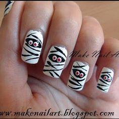 Nail Art Tutorial Momia Nail Art
