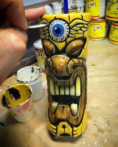 Tiki Man, Tiki Tiki, Tiki Hawaii, Tiki Tattoo, Western Saloon, Tiki Statues, Tiki Totem, Tiki Lounge, Vintage Tiki