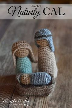 Crochet Nativity CAL - Join me on November 14, 2016 for this fun nativity mini-CAL. We will work together and make one piece each day!
