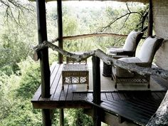 We had a dream come true like this treehouse platform but it blew down during Hurricane Sandy :(