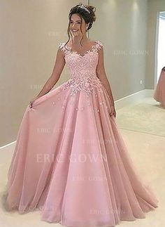 Prom Dress Princess, Pink chiffon lace prom dress, pink evening dress, formal dress Shop ball gown prom dresses and gowns and become a princess on prom night. prom ball gowns in every size, from juniors to plus size. Prom Dresses Long Pink, Princess Prom Dresses, Straps Prom Dresses, Prom Dresses 2017, A Line Prom Dresses, Tulle Prom Dress, Formal Dresses For Women, Ball Gown Dresses, Pretty Dresses