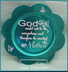 Personalized Charger Plates by VinylEloquence on Etsy, $13.00