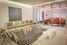 Currently viewing : The Hi-tech Hamilton Apartments: Super Fabs & Luxury Singapore Penthouse With Car Parking Area Inside The House Contemporary garage Design Garage, House Design, Garages, Appartement Design, Luxury Office, Garage Remodel, Apartment Interior Design, Interior Decorating, Minimalist Home