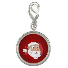 Santa Clause Cartoon Charm
