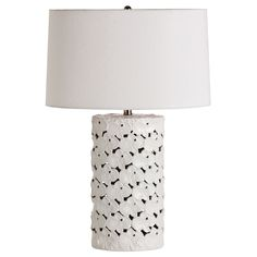 Arteriors Castillo White Porcelain Table Lamp @Sarah Chintomby Chintomby Chintomby Nasafi Grayce