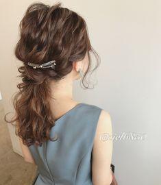結婚式arrange✩ふわふわローポニー✩ Curled Hairstyles, Bride Hairstyles, Black Hair Curls, Hair Arrange, Hair Setting, Girl Running, Dream Hair, Professional Hairstyles, Bridal Hair