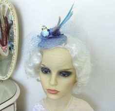 Blue Bird Fascinator by talulahblue on Etsy