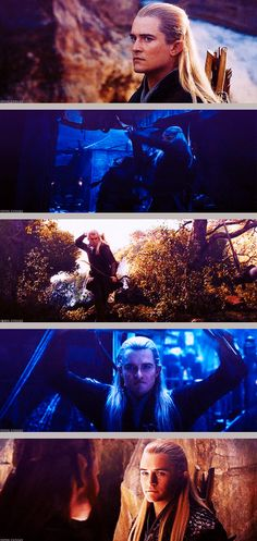 Legolas in the new trailer of The Hobbit: The Desolation of Smaug - I noticed he seemed different compared to how he is in LOTR, like mean/ruthless.
