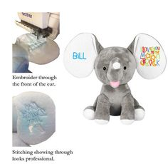 Wholesale Baby Cubbies Embroidery Blanks - Dumbles Elephants - AllStitch Embroidery Supplies