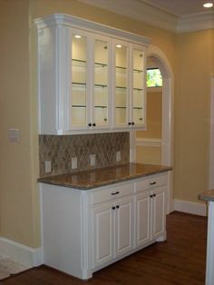 kitchen with built in china cabinets - Google Search