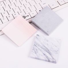 Marble and Cement Colored Sticky Notes Stationary School, Office Stationery, Label Sticker Printing, 3d Printing, Marble Sticker, Cement Color, Bullet Journal Font, Note Memo, Back To School Supplies