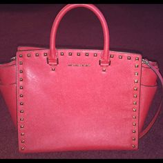 Limited edition Red Michael Kors bag brand new! Like new REAL Michael Kors bag. Michael Kors Bags Totes