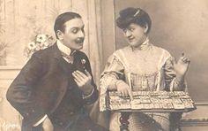 Ghassan Bitar consulting the fortune-teller  La cartomancienne