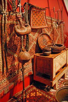 Everyday Kazakh things. Objets quotidiens kazakhs (musée Guimet) by dalbera, via Flickr