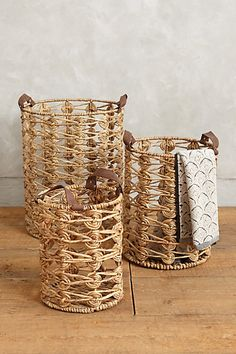 Spiral Weave Storage Baskets #anthrofave