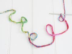 How to crochet rainbow shoe laces - Mollie Makes