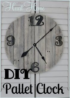 easy diy pallet clock, crafts, home decor, outdoor living, pallet, repurposing upcycling, This is the easiest DIY wood clock ever How do I know Because I actually did this without any help from The Husband