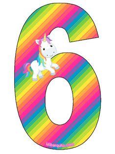 Birthday Letters, Birthday Numbers, Unicorn Birthday, Unicorn Party, Alphabet Style, Disney Decals, Unicorn Invitations, Unicorn Pictures, Festa Party