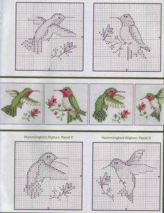cross stitch pattern hummingbird - Google zoeken