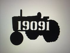 Tractor House Number / Farm House Number / by GlamorousFindings, $65.00