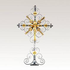 Schmiedeeisernes Grabkreuz »Sandrino« • Hochwertige Schmiedekunst & Handarbeit • Jetzt versandkostenfrei kaufen bei ▷ Serafinum.de