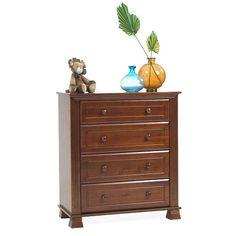 Baby Cache Essentials 4 Drawer Dresser Chestnut
