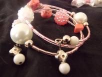 Light Pink Wrap and Earring Set