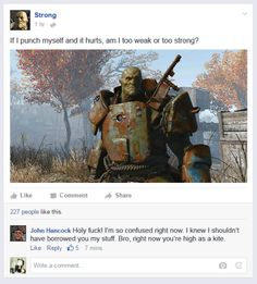 falloutpipbook:  Strong chems lol  Holy  fallout fallout 4 fallout companions fallout 4 companions